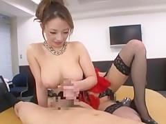 Hottest Japanese chick Mako Oda in Horny Stockings/Pansuto, Handjobs JAV clip