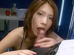 Exotic Japanese chick Nina in Amazing Blowjob/Fera JAV scene