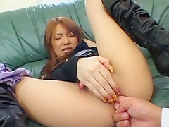 Exotic Japanese chick Hina Otsuka in Incredible Fingering JAV movie