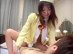Incredible Japanese chick Akari Hoshino, Rei Kitajima, Mirai Hirooka in Best Cunnilingus JAV movie