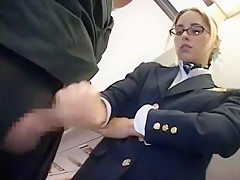 Incredible Japanese girl in Exotic Blonde, Public JAV clip