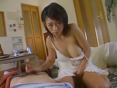 Exotic Japanese slut Sasa Handa in Horny Wife, Handjobs JAV video