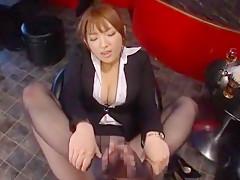 Incredible Japanese girl Shiori Kamisaki in Fabulous Foot Job/Ashifechi JAV movie