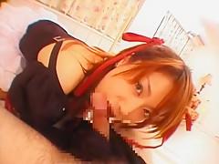 Fabulous Japanese girl Miki Uehara in Exotic Stockings/Pansuto, Doggy Style JAV clip