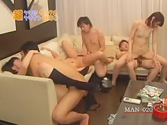 Fabulous Japanese whore Suzuka Arinaga in Incredible BBW, Group Sex JAV video
