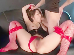 Exotic Japanese girl Yui Hatano in Horny Fingering, Stockings/Pansuto JAV clip