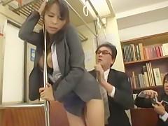 Fabulous Japanese chick Saki Sudou, Kyouko Maki, Miyuki Matsushita in Hottest Doggy Style JAV scene