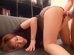 Exotic Japanese chick Mika Hatori in Horny Cumshots, Censored JAV movie