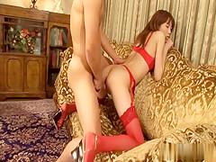 Exotic Japanese girl in Horny JAV uncensored Creampie clip