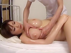 Horny Japanese girl Rio Hamasaki, Saki Tsuji in Incredible Massage JAV scene