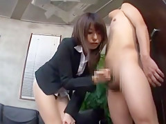 Best Japanese chick Ran Kayama, Miki Araki, Misa Takada in Crazy Secretary, Handjobs JAV clip