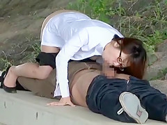 Best Japanese chick Meina Minami in Fabulous Public, Blowjob/Fera JAV movie