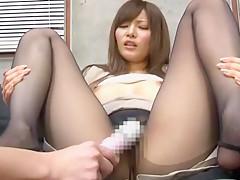 Amazing Japanese chick Yuria Kiritani in Exotic Secretary, Stockings/Pansuto JAV clip
