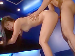 Hottest Japanese girl in Crazy Doggy Style, Lingerie JAV clip