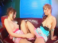 Crazy Japanese slut Ren Hitomi in Incredible MILFs, Lesbian/Rezubian JAV video