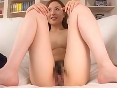 Horny Japanese model Kaori Saejima in Hottest Facial, Stockings/Pansuto JAV clip