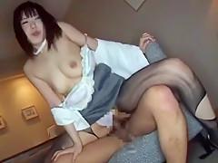 Incredible Japanese girl Mona Asamiya in Exotic Stockings/Pansuto, High Heels JAV scene