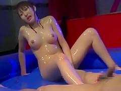 Crazy Japanese girl Mayumi Hatano, Riko Tachibana, Aki Iwashita in Horny Sports JAV video
