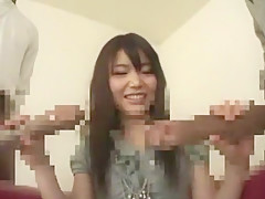 Exotic Japanese girl Megumi Shino in Amazing Handjobs, Interracial JAV video