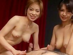 Fabulous Japanese girl Sae Aragaki, Yukari Ayasaki in Amazing Fetish, Threesomes JAV clip