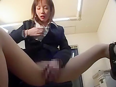 Amazing Japanese girl Akira Watase in Horny Office, Small Tits JAV scene
