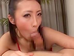 Crazy Japanese whore Reiko Nakamori, Akari Hoshino, Shizuka Kanno in Incredible Cumshots, Blowjob JAV movie