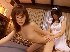 Best Japanese slut Minaki Saotome, Arisa Kanno in Fabulous Strapon, Stockings JAV clip