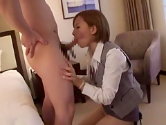 Exotic Japanese whore Sakura Ayane in Fabulous Fingering, Secretary JAV scene