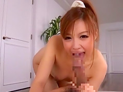 Hottest Japanese whore Aiko Hirose in Incredible Blowjob, POV JAV clip