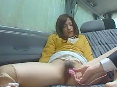 Horny Japanese model Riko Aduchi in Amazing Stockings, Blowjob JAV movie