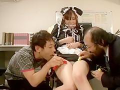 Exotic Japanese girl Kotomi Asakura, Riko Tanabe in Amazing Swallow, Stockings JAV movie
